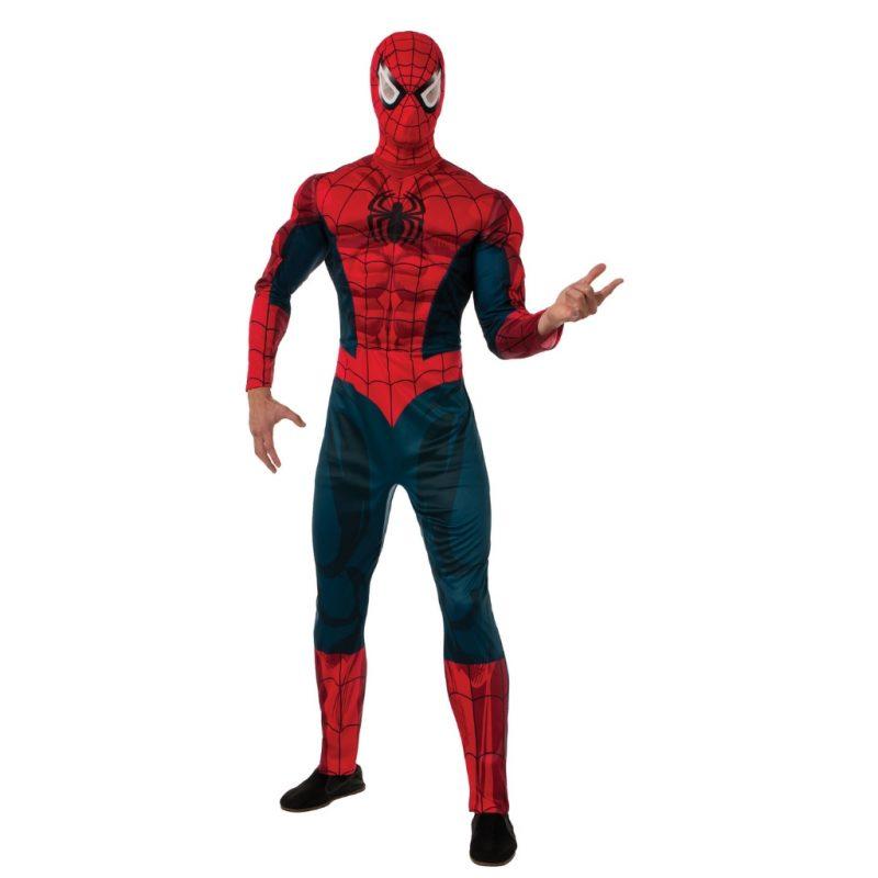 fantasia-masculina-adulta-cosplay-fantasia-homem-aranha-luxo-adulto