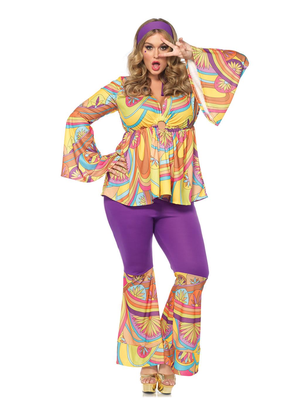 Fantasia hippie lilas x carnaval anos 70 flash dance - Hippies anos 70 ...