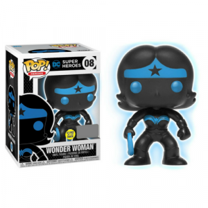 Justice League Wonder Woman Silhouette Glow-in-the-Dark Pop! Vinyl Figure #08