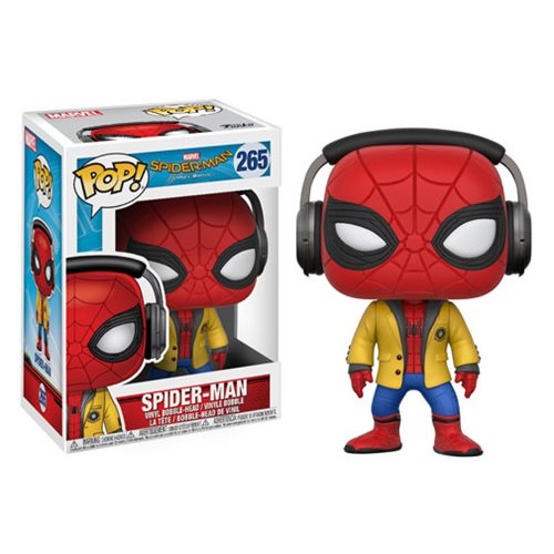 Spider-Man Homecoming Spider-Man with Headphones Pop! Vinyl Bobble Head #265
