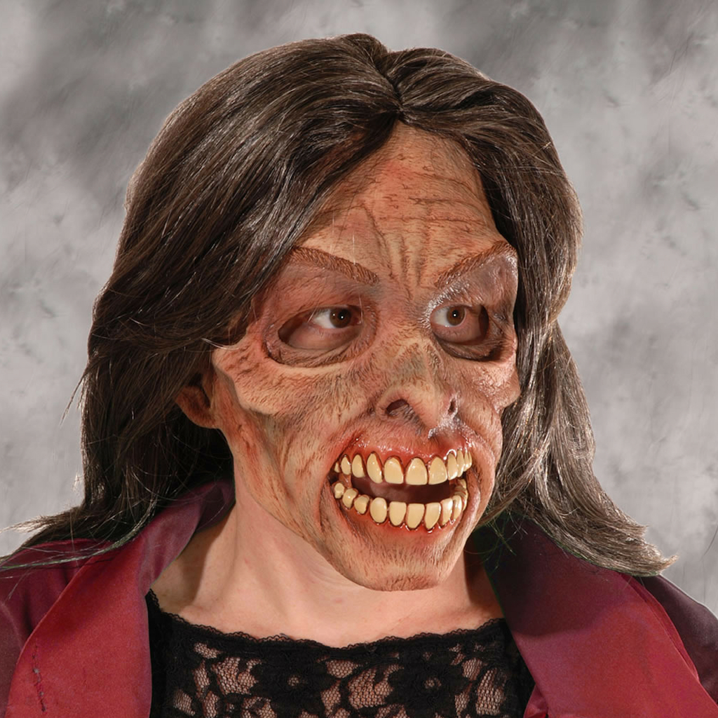 Mascara Senhora Zumbi Terror Medo Halloween Festa Fantasia Mulher