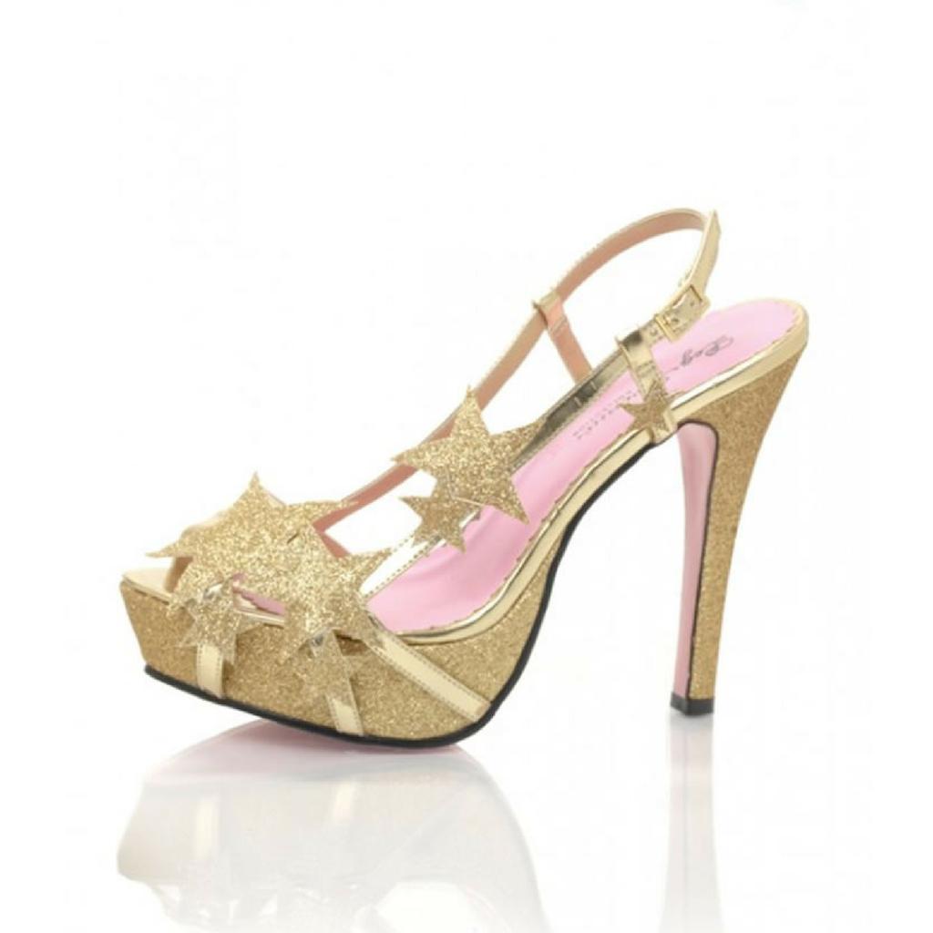 39cd8a420 Sapato Estrela Dourado Sandália, fantasia moda tendencia, trend ...