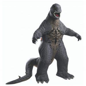 Fantasia Inflável Godzilla Adulto