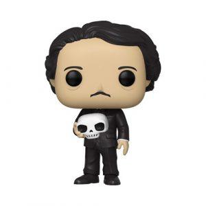 FU46774lg Edgar Allan Poe with Skull Pop! Vinyl Figure