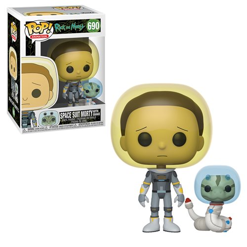 FU45435lg Rick and Morty Space Suit Morty With Snake Pop! Vinyl Figure
